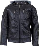 Urban Republic Boys' Faux Leather Moto Jacket With Zips (10/12, )