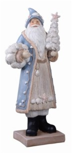 Transpac Trans Pac Resin Silver Christmas Coastal Santa Figurine