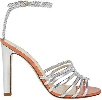 Francesco Russo Metallic Braided Leather Sandals