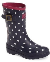 Joules Girl's 'Welly' Print Rain Boot