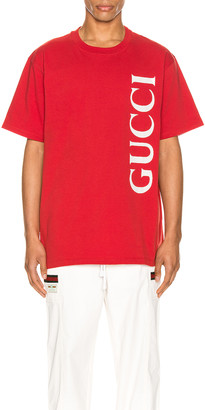Gucci Print Oversize Tee in Brick & White | FWRD