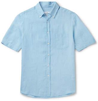 Dunhill Button-Down Collar Linen Shirt