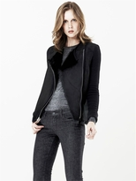 L'Agence Shearling And Ribbed Cashmere Jacket