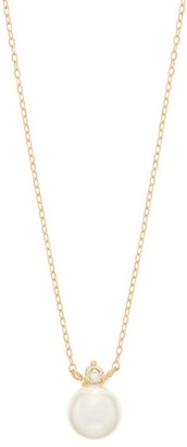 Mizuki Diamond, Pearl & Gold Pendant Necklace - Womens - Pearl