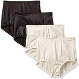 Bali Women's 4 Pack Firm Control Shaping Brief (x710 Bundle)