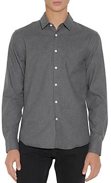 Sandro Cotton Flecked Flannel Shirt