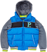 U.S. Polo Assn. Blue Tile Puffer Coat - Toddler & Boys