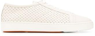 Santoni Woven Low-Top Sneakers