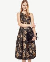Ann Taylor Gilded Blossom Flare Dress