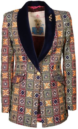 The Extreme Collection Multicolor Pattern Blazer Italina