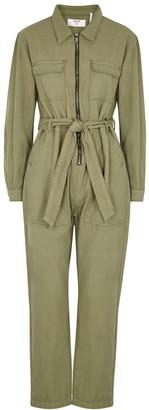 One Teaspoon Claudia green cotton-twill jumpsuit