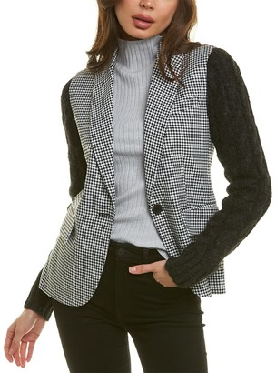 Derek Lam 10 Crosby Saks Excel Mixed Media Blazer