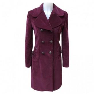 Dolce & Gabbana Burgundy Cotton Coat for Women