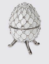 Marks and Spencer Gustavs Egg Diamanté Encrusted Trinket Box