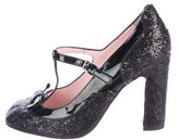 RED Valentino Glitter Bow-Accented Pumps