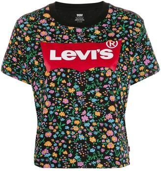 Levi's logo floral print T-shirt