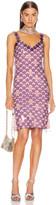 Paco Rabanne Chainlink Midi Dress in Purple   FWRD
