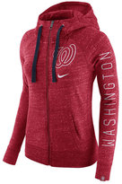 Nike Women's Washington Nationals Gym Vintage Full-Zip Hooded Sweatshirt