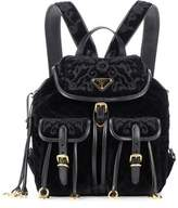 Prada Quilted velvet backpack