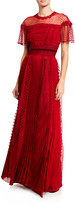 ZUHAIR MURAD Harui Pleated & Lace Gown