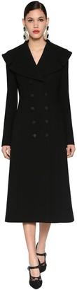 Dolce & Gabbana STRETCH WOOL COAT W/ OVERSIZED COLLAR