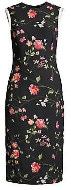 Jason Wu Collection Women's Vine Floral Stretch Crepe Sheath Dress