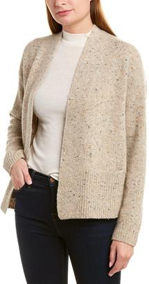 Vince Ribbed Trim Wool & Alpaca-Blend Cardigan