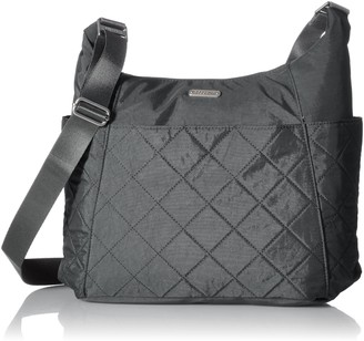 Baggallini Hobo Crossbody Bag Lightweight Quilted Nylon Organizational Pockets
