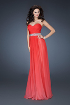La Femme 18486 Gathered Sweetheart A-line Dress