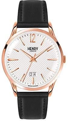Richmond Henry London Unisex Quartz Watch with Analogue Quartz Leather HL41 JS 0038