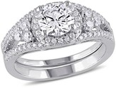 Allura 2.93 CT. T.W. Cubic Zirconia Bridal Set in Sterling Silver