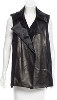 Reed Krakoff Leather-Accented Wool-Cashmere Vest