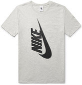 Nike Essentials Printed Cotton-jersey T-shirt - Gray