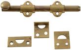 "Rejuvenation NOS 6""Brass-Plated Steel Flush Bolts"