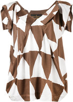 Vivienne Westwood triangle print blouse