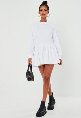 Missguided Tall White Extreme Oversized Smock Sweater Dress