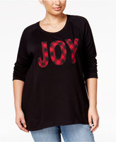 Style&Co. Style & Co Plus Size Joy Graphic Top, Only at Macy's