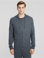 Calvin Klein Collection Boiled Cashmere Zip Hoodie