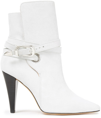 IRO Buckled Suede Ankle Boots