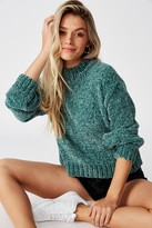 Supre Vera Chenille Mock Neck Knit Sweater