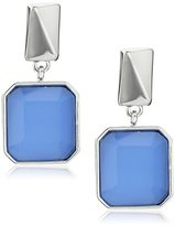 """Kenneth Cole New York Blue Mood"""" Square Faceted Stone Drop Earrings"""