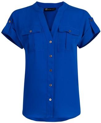 New York & Co. Button-Tab Shirt