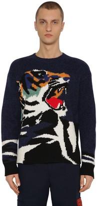 Kenzo Intarsia Tiger Wool Blend Knit Jumper