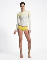 Cynthia Rowley Zip Front Sport Stripe Rashguard Jacket