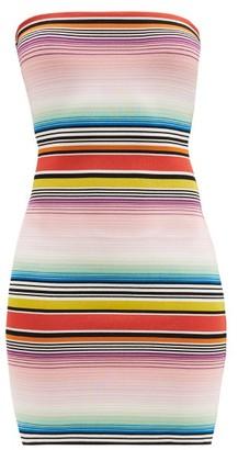 Missoni Mare Striped Bandeau-neckline Minidress - Multi