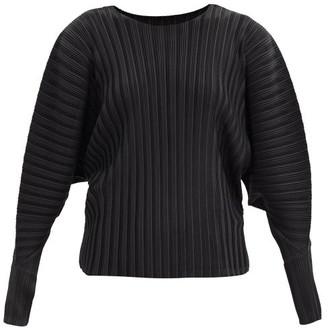 Pleats Please Issey Miyake Dolman-sleeve Technical-pleated Top - Black
