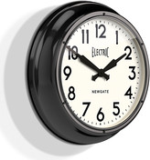 Newgate Clocks - The Large Electric Wall Clock - Black