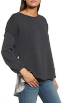Women's Caslon Layered Look Sweatshirt