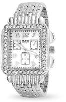 Bling Jewelry Square Stainless Steel Back Crystal Art Deco Style Womens Watch.