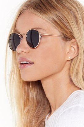 Nasty Gal Womens See It From My Perspective Round Sunglasses - Black - One Size
